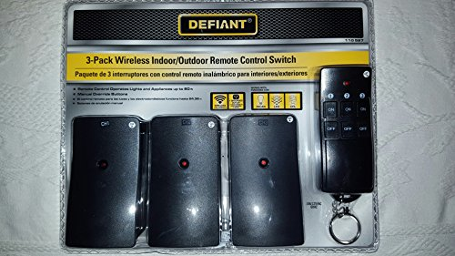 noma outdoor wireless remote switch with 2 outlets manual