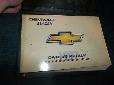 1997 chevy blazer owners manual