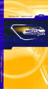 2003 ford mustang owners manual download