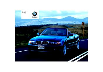 2006 bmw 325ci owners manual
