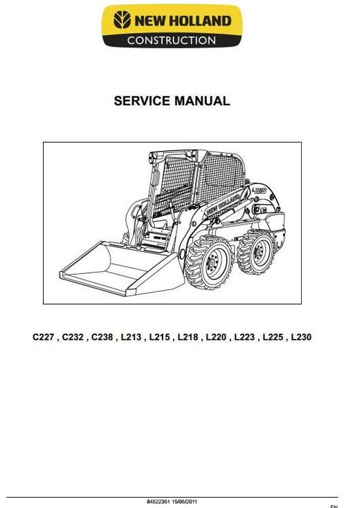 new holland l223 service manual